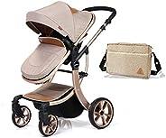 Teknum 3in1 Luxury Pram Stroller-Story- Khakhi