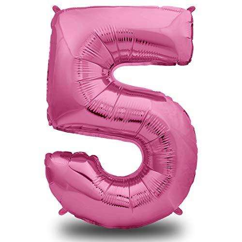Unique Party Supplies - XXL Folien-Luftballon 5 Pink | Riesen