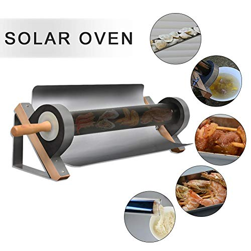 Ksruee Tragbarer Solargrill, Solarkocher Gepäcktyp Solarkocher, Edelstahl Solar BBQ Cooker Faltbar, Kochen auf die Sonne, für Reise Camping im Freien