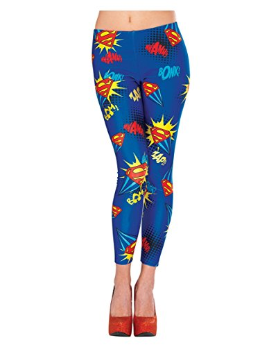 Originale DC Comic Supergirl Leggings als (Comic Weibliche Dc Kostüme)