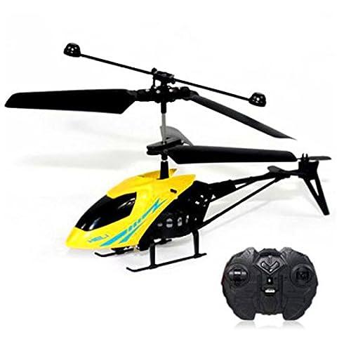 Switchali l'hélicoptère RC 901 2CH Mini Radio Aircraft Remote Control Micro 2 canaux (Jaune)