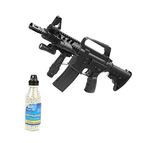 well Airsoft Pack Assault Rifle M16A5 Botella de Primavera de 2000 Bolas ofrecidas (0,4 Julios)