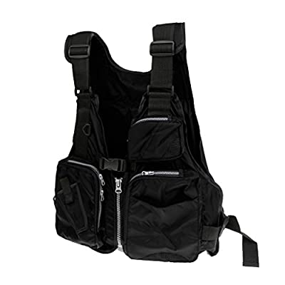 Sharplace Waterproof Utility Fly Fishing Hunting Photography Vest Multi-pocket Waistcoat Backpack Chest Bag Fit All Size 3 Color by Sharplace