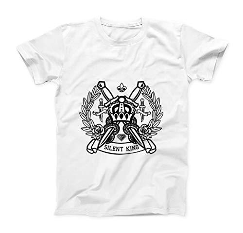 The Return of The Silent King Herren T-Shirt - Weiß - XX-Large (Dragon Youth Tshirt)