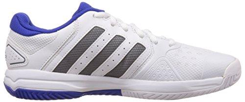 adidas Barricade Team 4, Chaussures de Tennis Mixte Enfant Blanc (xj Ftwwht/iro)