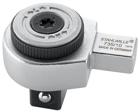 Stahlwille 735/10 735 Cliquet insérer l'outil, 1/2, Argent/noir