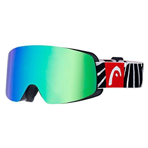 Freestyle Fire Infinity Head-Occhiali da sci a maschera, colore: nero/rosso