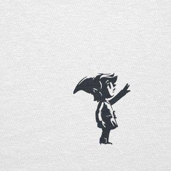 TEXLAB - Banksy Link - Herren T-Shirt Weiß