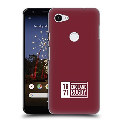 Head Case Designs Offizielle England Rugby Union 1871 Maroon 2017/18 Streifen Und Bagdes Harte Rueckseiten Huelle kompatibel mit Google Pixel 3a XL Maroon-design