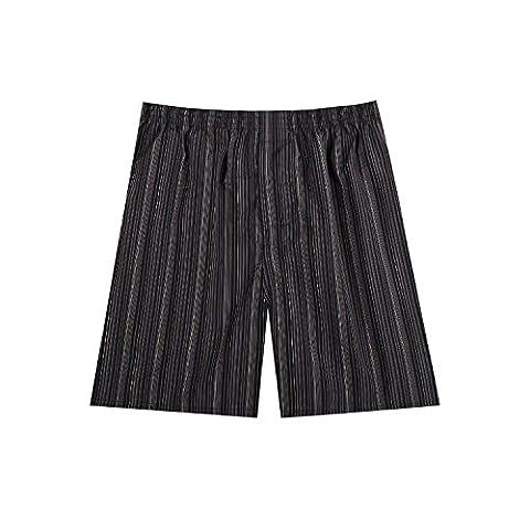 Pau1Hami1ton B-01 Herren Baumwolle BoxerShorts Karo Woven Boxer Shorts Unsichtbar Elastische Taille Unterhose Unterwäsche,1 Packung, 44 Farben(37#,XL)