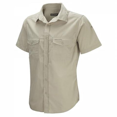 Craghoppers Herren Outdoor Reise Kiwi Kurzarm Hemd, Oatmeal, XL, CMS339
