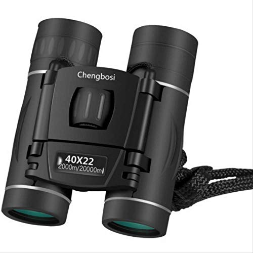 Wyjs Telescopio Hd Zoom Telescopio 40X22 Binoculares Plegables para Observación De Aves Al Aire Libre Viajar Caza Camping Telescopio 2000M Negro