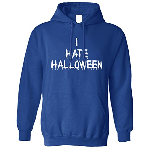 Ich hasse Halloween Slogan Lustige Kürbis-Hexe Kein Kostüm Kapuzenpullover