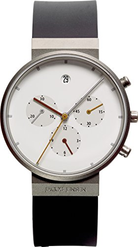 Jacob Jensen men's Quartz Watch Analogue Display and Rubber Strap JACOB JENSEN ITEM NO.: 601