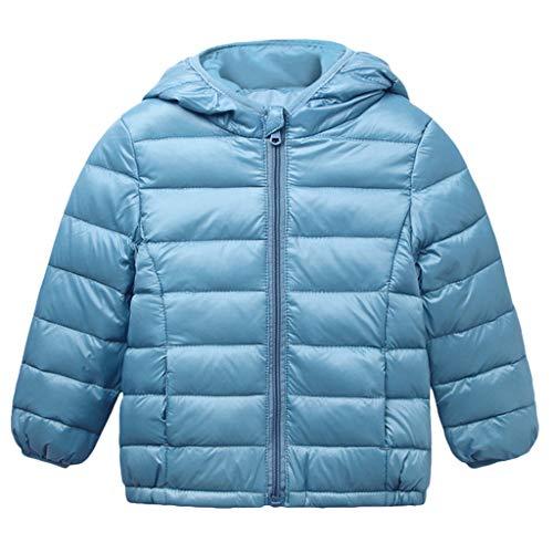 MEIbaxBambino Felpa con Cappuccio con Zip Giacche in Cotone Caldi Giacca a Righe Caldo Cappotto Slim Fit Cappotti in Colore Solido Giacca Inverno,Abbigliamento Premam