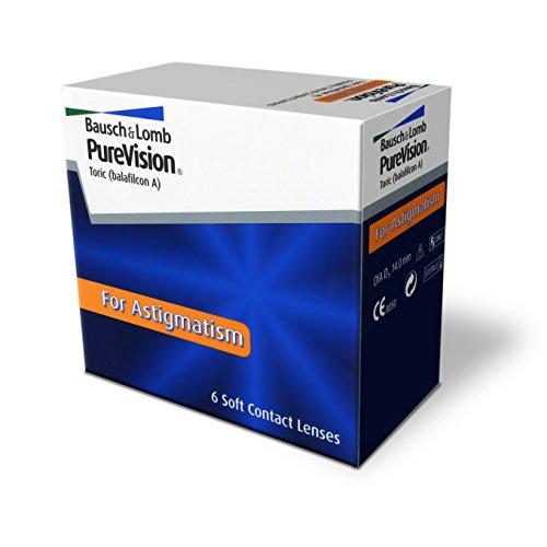 Purevision Toric, torische Monatslinsen weich, 6 Stück  / BC 8.7 mm / DIA 14.0 / CYL -1,25 / Achse 090 / +04,75 Dioptrien