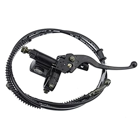 GOOFIT Hydraulic Brake Master Cylinder Brake Lever Handle with Cable for 50cc 70cc 90cc 110cc 125cc 150cc Chinese ATV