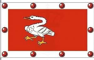 Königsbanner Hissflagge Amt Krempermarsch - 80 x 120cm - Flagge und Fahne