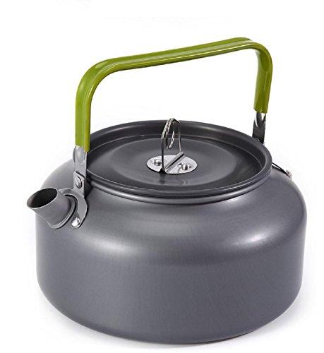 GAOJIAN 1.2L Bouilloire en Aluminium Portable en Métal Thé Pot Café Bouilloire Théière Solide Léger avec Maille Sac Accueil Camping en Plein Air