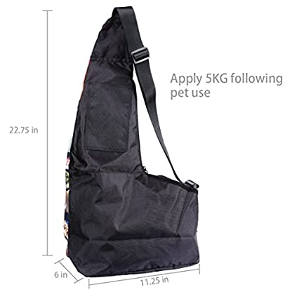 AUPET Oxford Outdoor Pet Carriers, Hands-Free Puppy Cats Small Dog Travel Bag (Dog Carrier-01) 2