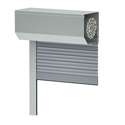 Vorbaurollladen SK45, grau, Aluminium BxH: 80x120 cm, Gurt - 39er Lamelle - Sondermaße möglich