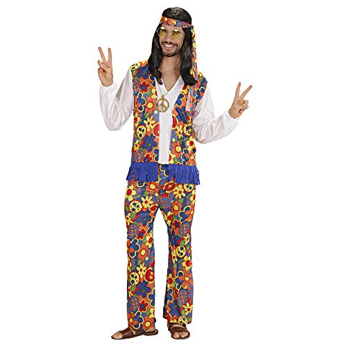 WIDMANN Widman - Disfraz de hippie años 60s adultos, talla XL (W3125-