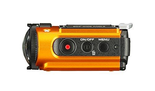 Ricoh WG-M2 kompakte und leichte Actioncam (4K-Video, 204 Grad Ultraweitwinkel-Objektiv) orange - 4