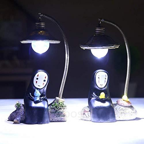 No Face LED Noche Luz De La Figura Estudio Ghibli Anime Resina Acción Figura Regalo De Navidad (Azul)