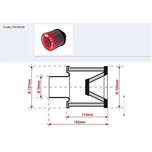 Filtre de reniflard dhuile d12mm longueur 40mm Bmc 790036