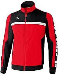 erima Sportsjacke 5-Cubes - Sudadera de fútbol para hombre, color Rojo, talla M