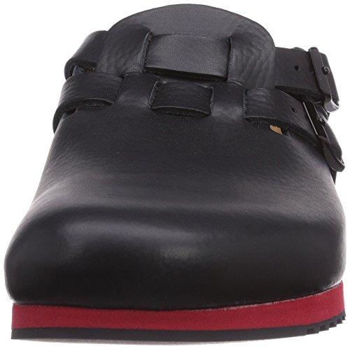 Birkenstock Kay Leder Softfootbed, Sabots femme Noir (black Ls Black/red)