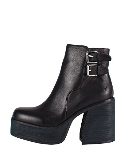 Windsor Smith Lykke Black Boots - Stivaletti Neri Con Fibbie