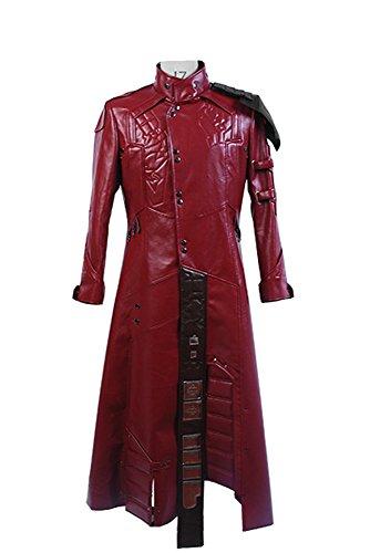 Fuman Guardians of The Galaxy Peter Quill Star Lord Cosplay Kostüm Mantel Herren XL