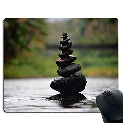 Aufgestapelte Steine Premium Qualität Dickes Gummi-Mauspad-Pad Soft Comfort Feel Finish -