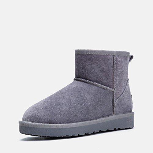 Bottes De Neige Chaudes D'hiver Bottes De Randonnée Épaisses Chaussures De Randonnée Extérieures, Marron, 40 Gris-42
