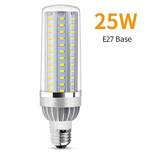LED-Maisbirne E26 / E27 Basis 2900 Lumen - 25W Superhell Spiralfächer Mais Licht Strassenlicht für große Fläche Kommerziell Deckenleuchte,Whitelight,E27 - E26 Standard Schraube Basis