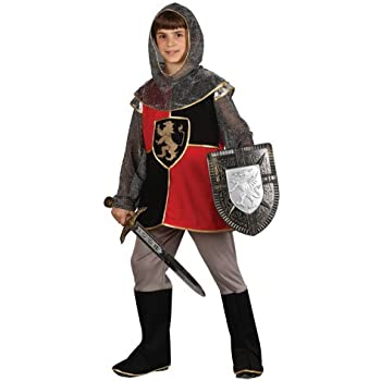 Knight Boys Fancy Dress Medieval Tudor Amour Kids World Book Day Childs Costume