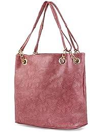 Techno Premium PU Leather And Casual Shoulder Bag Women & Girl's Handbag Colour Pink