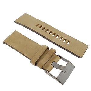 Diesel Uhrband Wechselarmband LB-DZ7342 Original Ersatzband DZ 7342 Uhrenarmband Leder 26 mm Beige