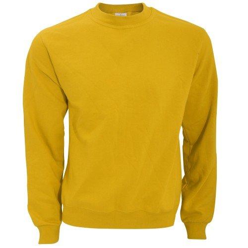 c136d6df898813 B&C Mens Crew Neck Sweatshirt Top (S) (Chilli Gold)