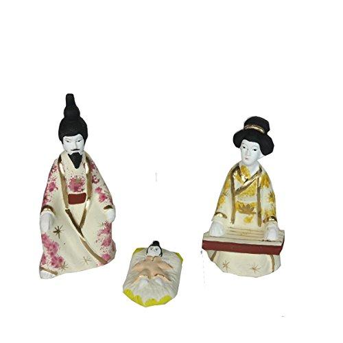 Discount ethnique – Crèche terre cuite Geisha Set H.9 cm.