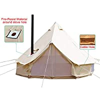 Sporttent Camping 4 Season Waterproof Cotton Canvas Bell Tent with Stove Hole and Cable Hole 9