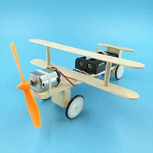 Kalaokei Kinder Kinder Wooden DIY Assembled Electric Airplane Glider Plane Model Toy (Toy Glider Flugzeuge)