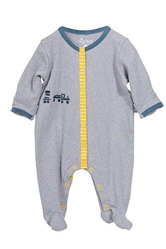 Sigikid Baby-Jungen Strampler New Born, Grau (Melange 97) 68