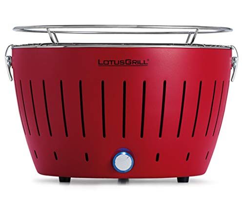 LotusGrill G-RO-34 - Barbacoa de carbón sin humo 35 x 26 x 23.4, color rojo