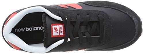 New Balance Kl410 M, Baskets mode mixte enfant Multicolore (Black/red)