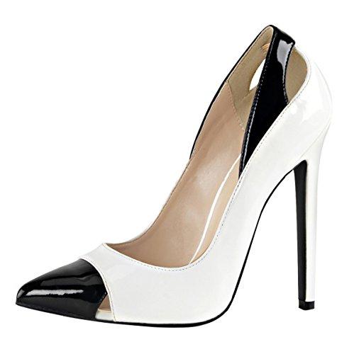 Escarpins high heels femme blanc (blanc) Blanc - Weiss (weiss)