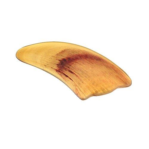 Massage Werkzeug - TOOGOO(R) Verschrottung Platte Traditionelle Chinesische Verschrottung Rind-Horn-Blade-Massage-Werkzeug Gesichtstherapie Werkzeug Gesundheit Gelb
