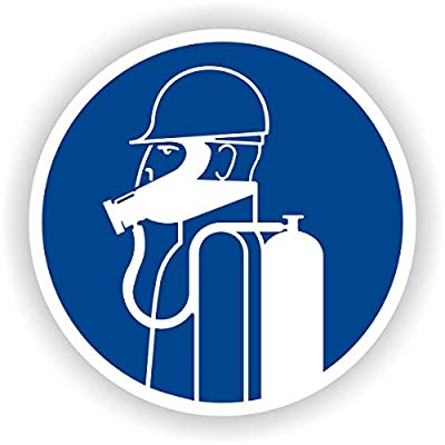 schweren Atemschutz tragen / Gebotszeichen / GE-27 / Sicherheitszeichen / Piktogramme / DIN EN ISO 7010