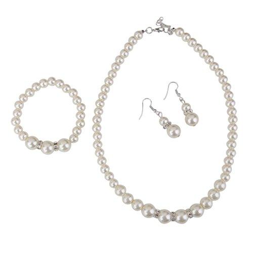 Mujeres De La Moda De La Joyeria De Perlas De Cristal Establecen Con L
